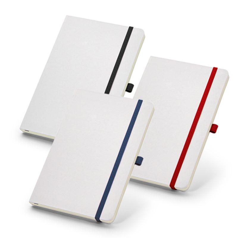 Caderno Capa Branca Elástico Colorido - Sem Pauta - Ref.0019390 - A partir de...