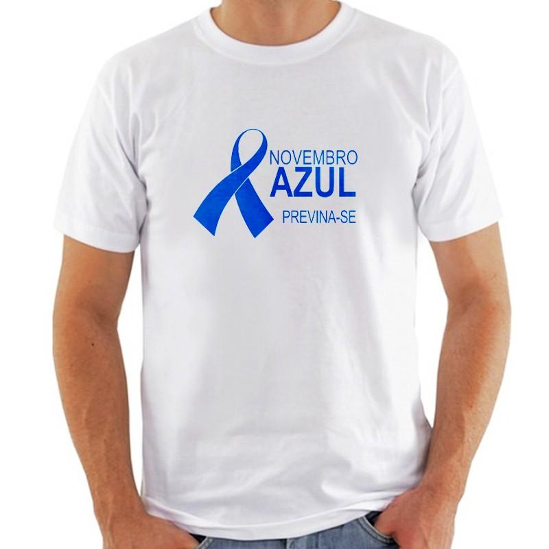 Camiseta branca - Novembro Azul Ref.0014901