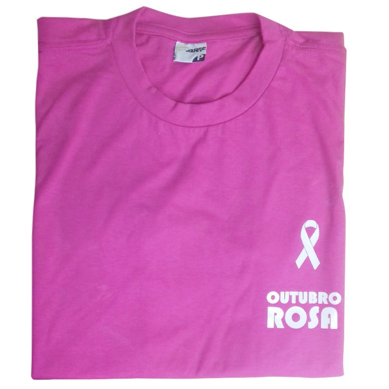 Camiseta colorida - Outubro Rosa Ref.0014906