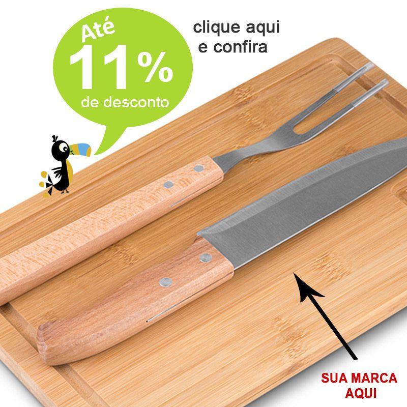 Kit Churrasco Bambu 3 Peças - Ref.0014068
