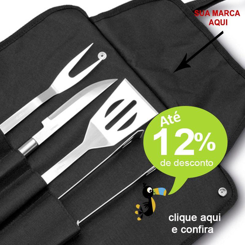 Kit Churrasco no Avental 4 Peças - Ref.0014089