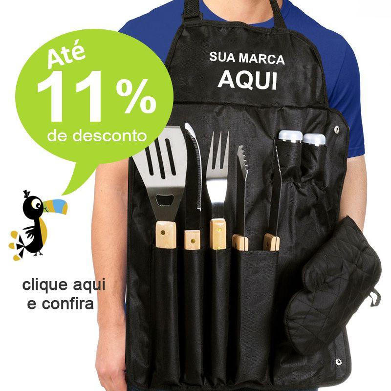 Kit Churrasco com Avental 7 Peças - Ref.0014041