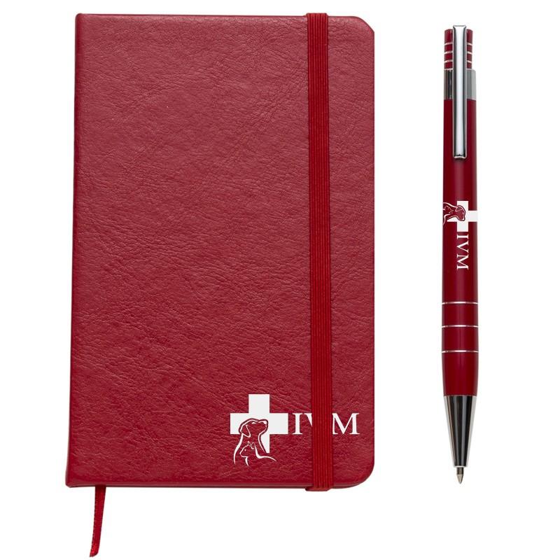 Kit Executivo Caneta e Moleskine Coloridos - Ref.0029100
