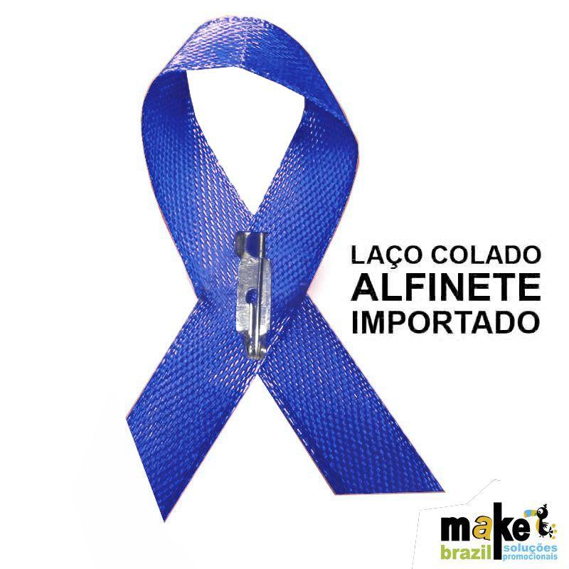 Laço Novembro Azul Personalizado Cx c/100 - Ref.0047029-AZ - A partir de
