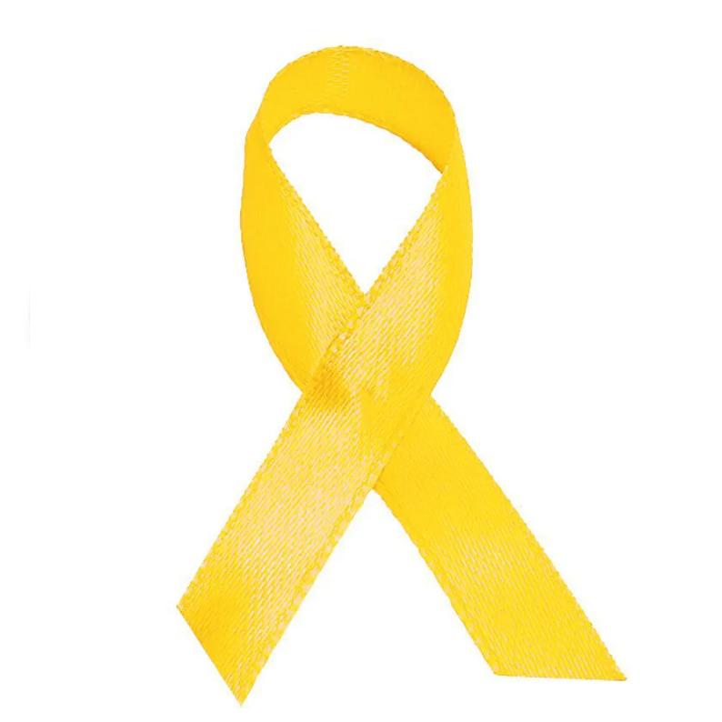 Laço Setembro Amarelo Cetim - cx c/ 100 - Ref.0047042 - A partir de