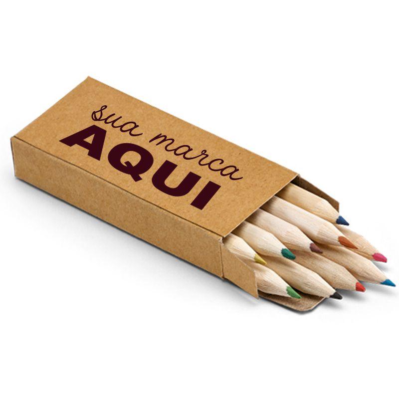 Mini Lápis de Cor Ecológico Caixa c/ 10 - Ref.0029320 - A partir de