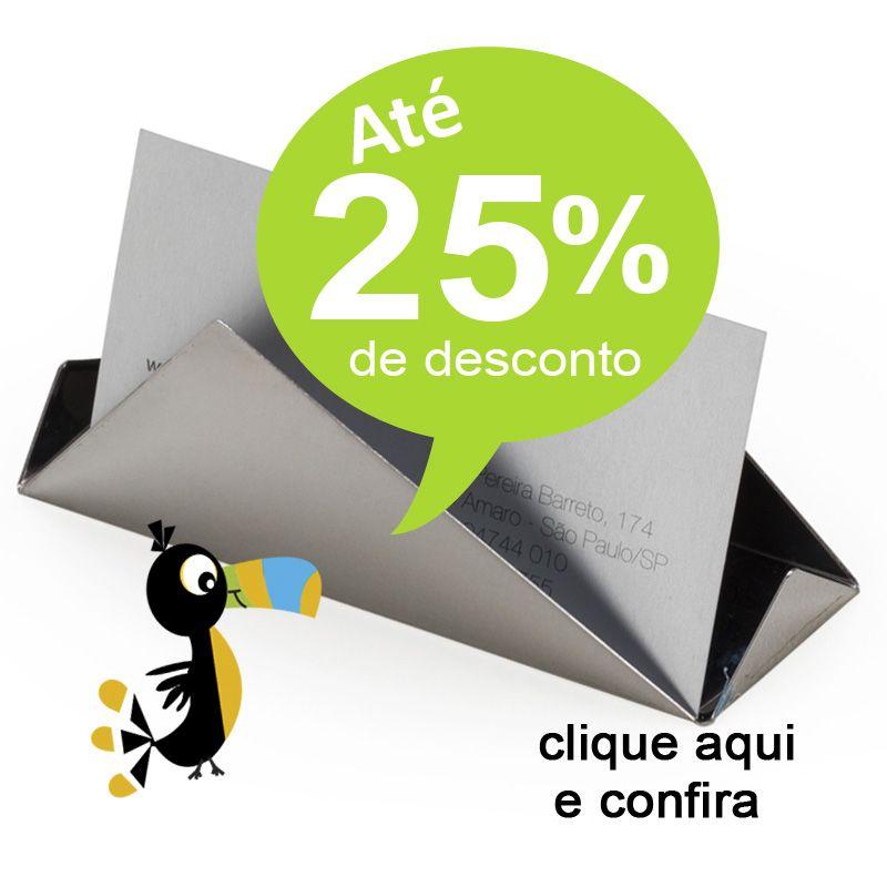 Porta Cartão Inox - Ref. 0029295