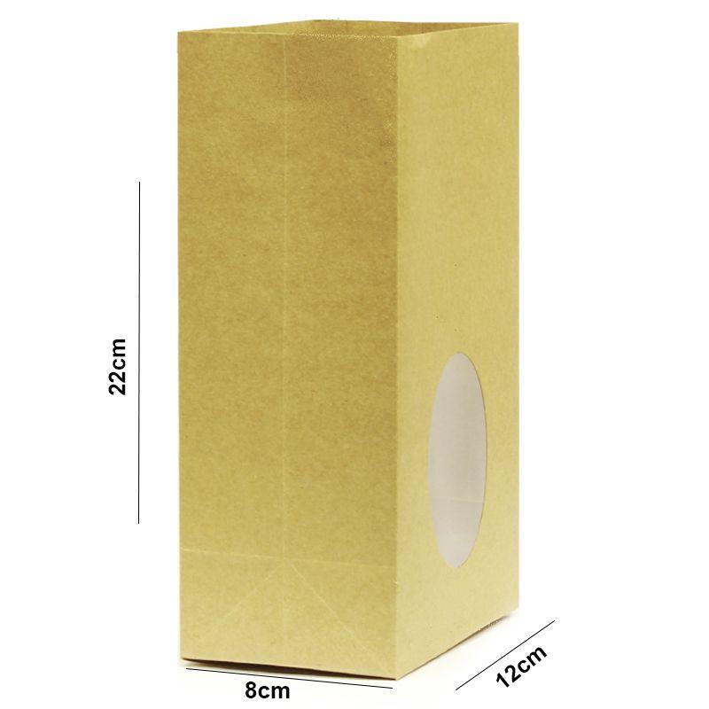22x12x8cm - Saco Visor Oval c/ Acetato - Kraft 125g - Pct 50un - REF.0050019