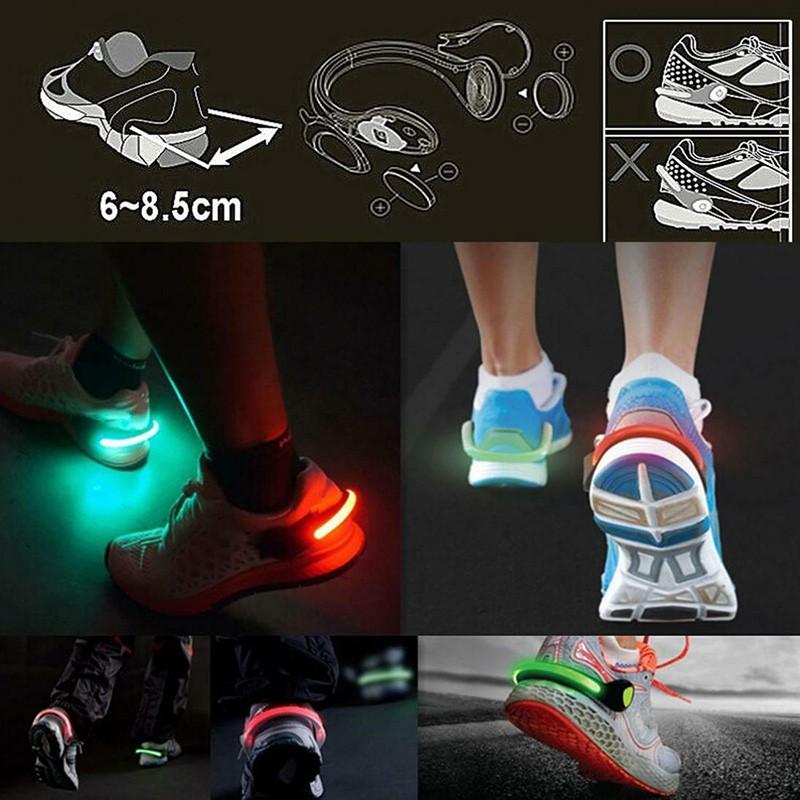 Safelight - Luz de Segurança para Tênis - Led Refletor ideal para corridas noturnas e cliclistas