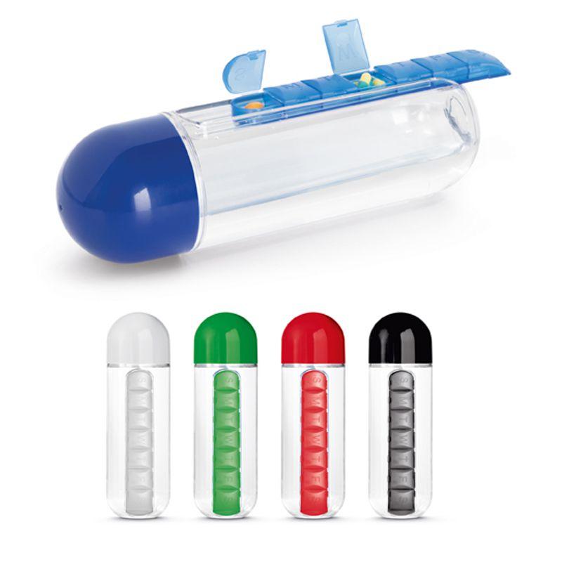 Squeeze de Plástico 740ml c/ Porta Comprimidos - REF.0018032