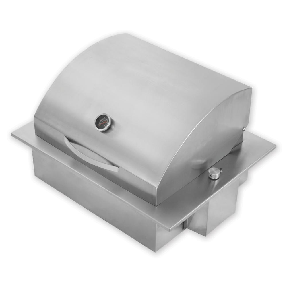 Churrasqueira Elétrica De Embutir Em Inox 304 com Tampa Abafador Steak Grill Grande