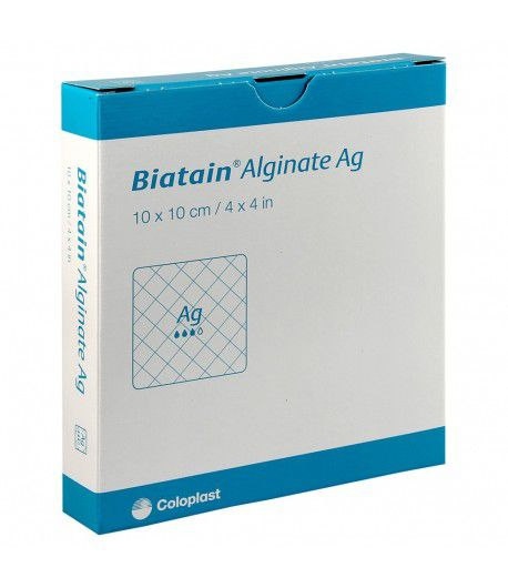 Biatain Alginato Ag 10 X 10 3760 - (Coloplast)