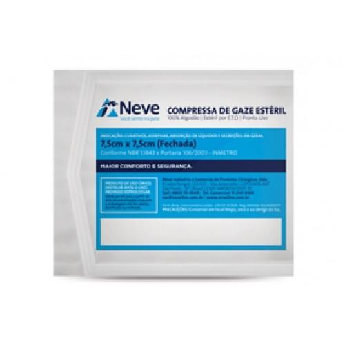 COMPRESSA GAZE ESTERIL 11FIOS 7,5X7,5 C/10 NEVE - (Neve)