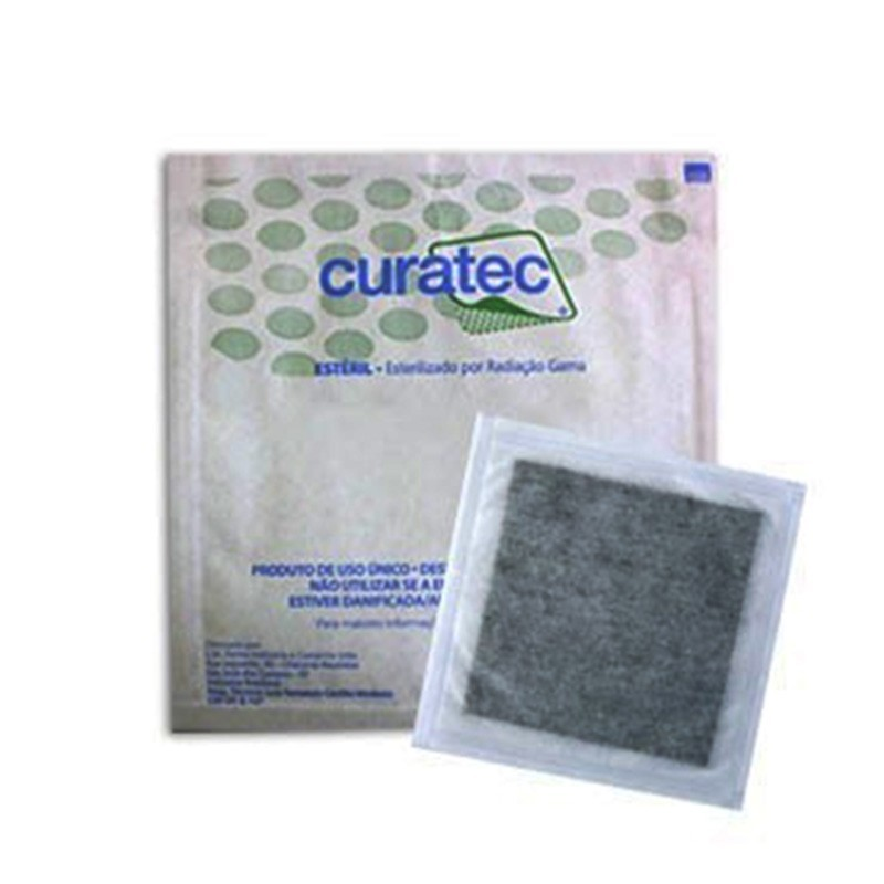 CURATEC CURATIVO CARVAO ATIVADO C/AG 10,5 X 10,5CM - (Curatec)