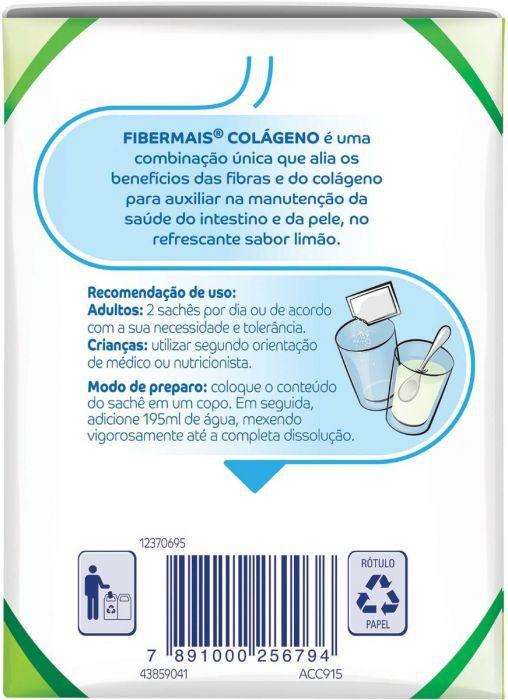 FiberMais® Colágeno Limão 10sch 6g - (Nestle)