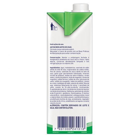 Isosource Mix Baunilha Tetra Square - 1L - (Nestle)