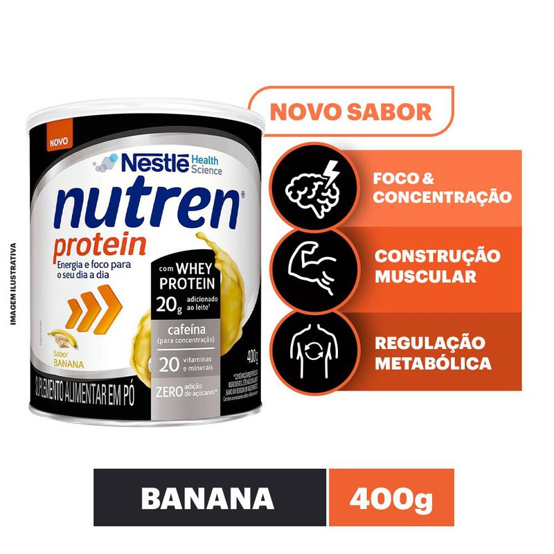 Nutren Protein Banana - 400g - (Nestle)