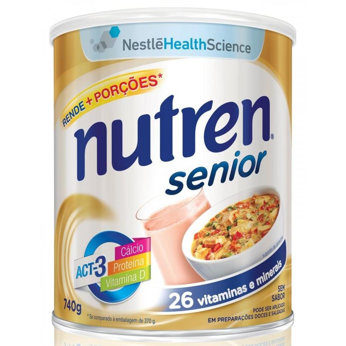 Nutren Senior Sem Sabor - 740 g - (NESTLE)