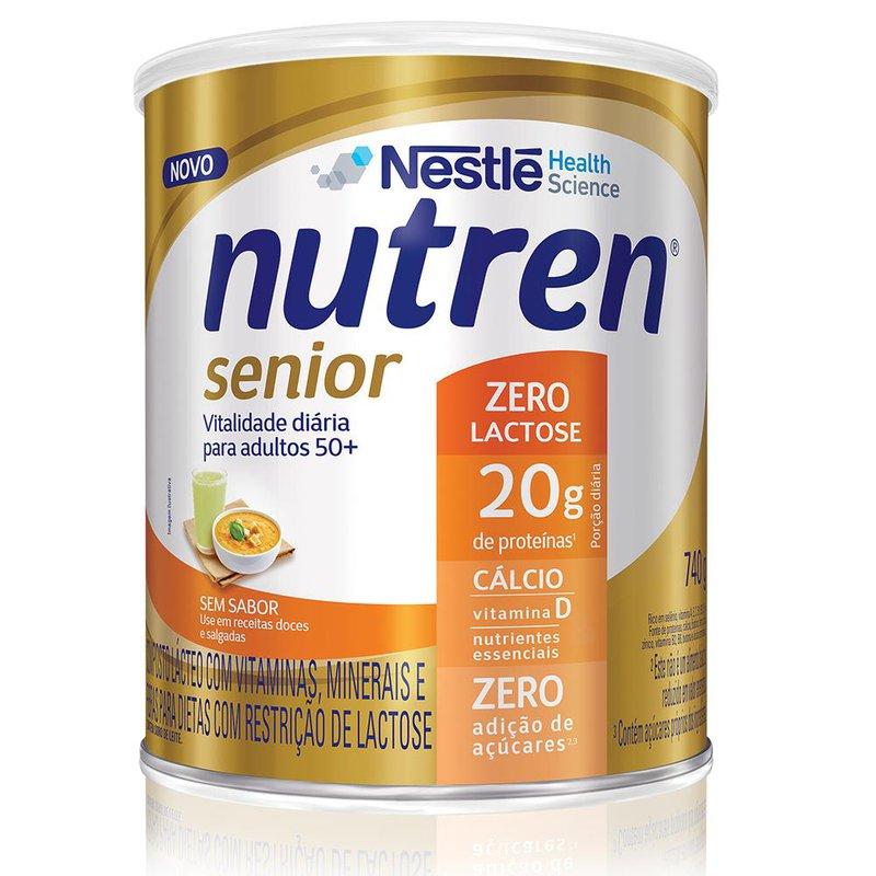 Nutren Senior Zero Lactose (Sem Sabor) - 740g - (Nestle)