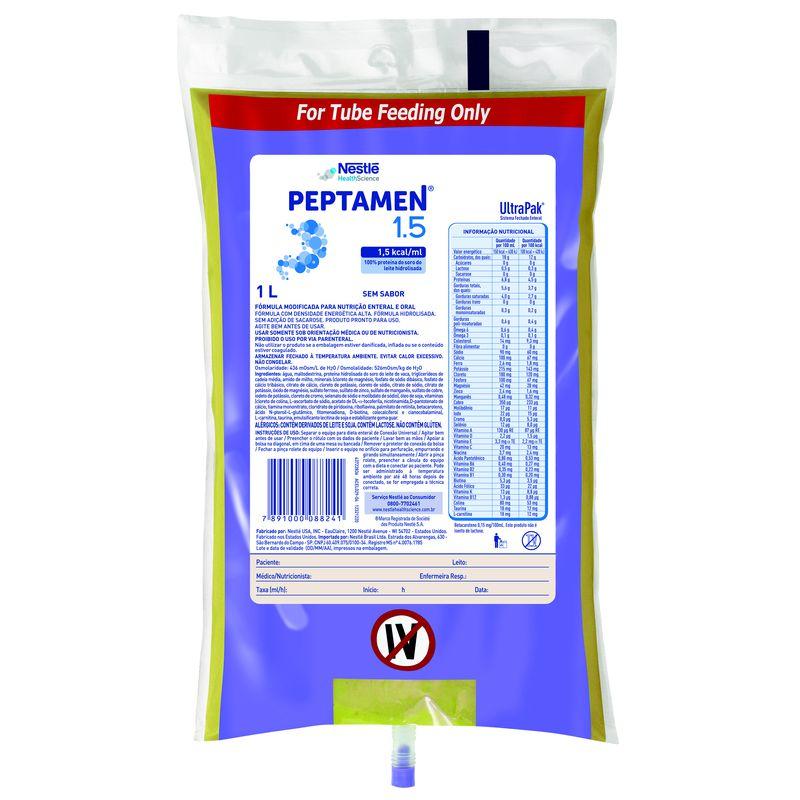 Peptamen 1.5 Sistema Fechado - 1L - (Nestle)