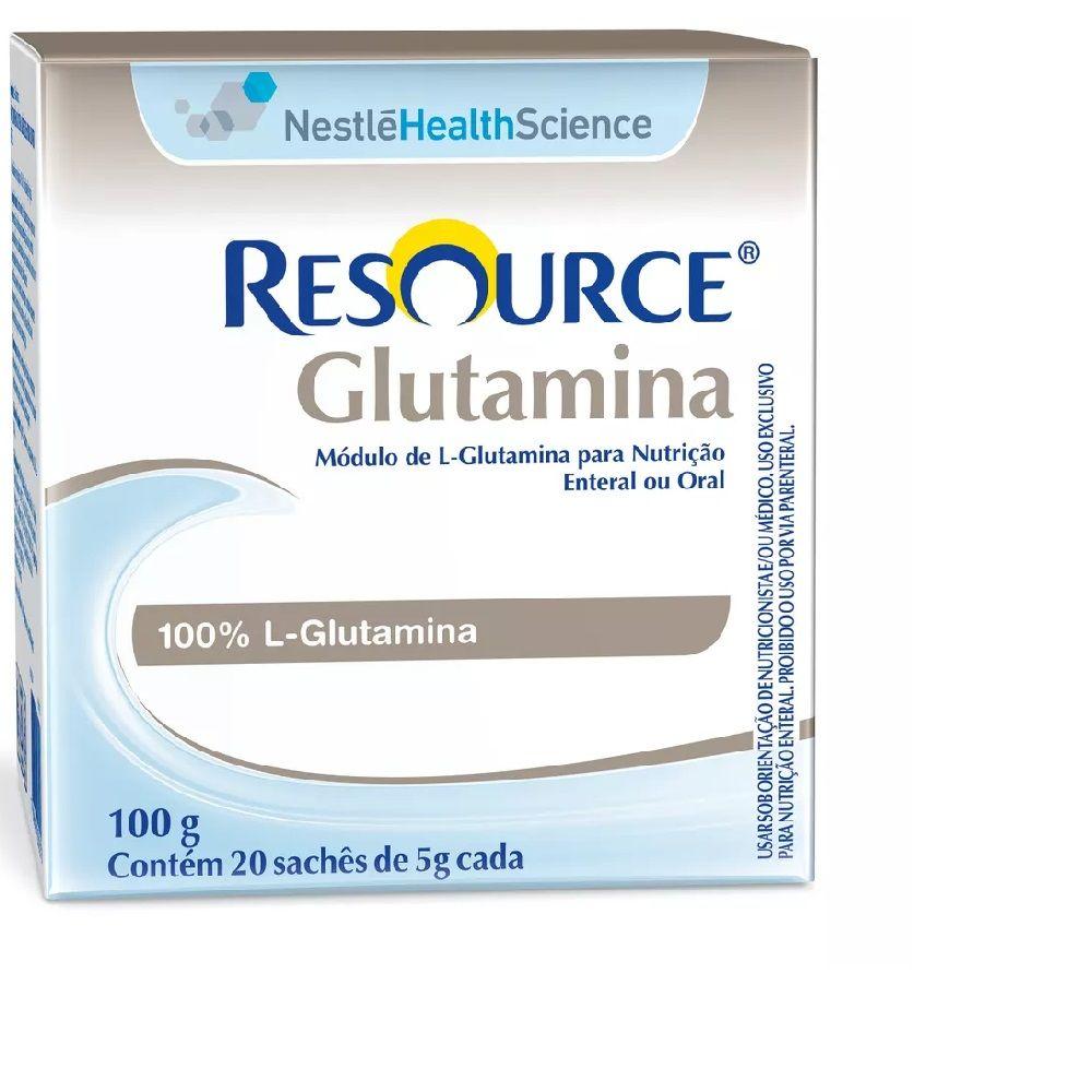 Resource Glutamina - Display com 20 sachês de 5g Cada - (Nestle)