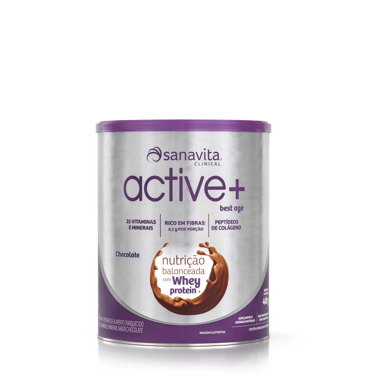 ACTIVE + BEST AGE - CHOCOLATE - 400g - SANAVITA