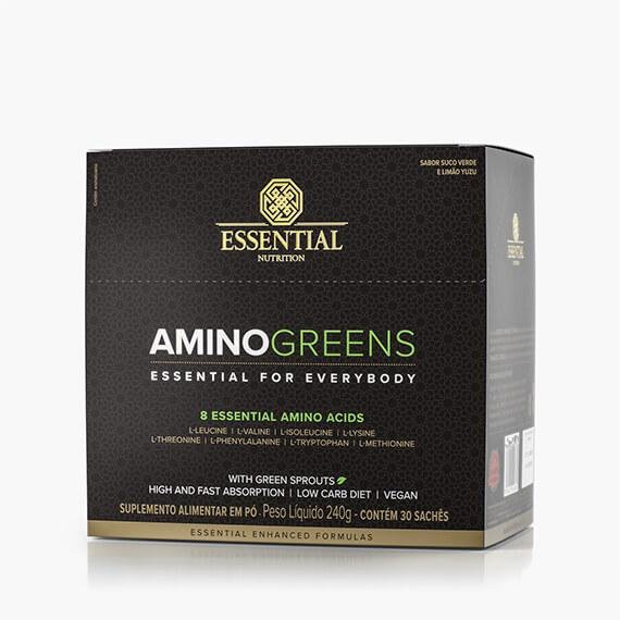 AMINO GREENS BOX - 240g - BOX C/ 30 SACHÊS DE 8g