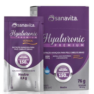 HYALURONIC PREMIUM VERISOL - NEUTRO - 20 SACHÊS - 76G - SANAVITA