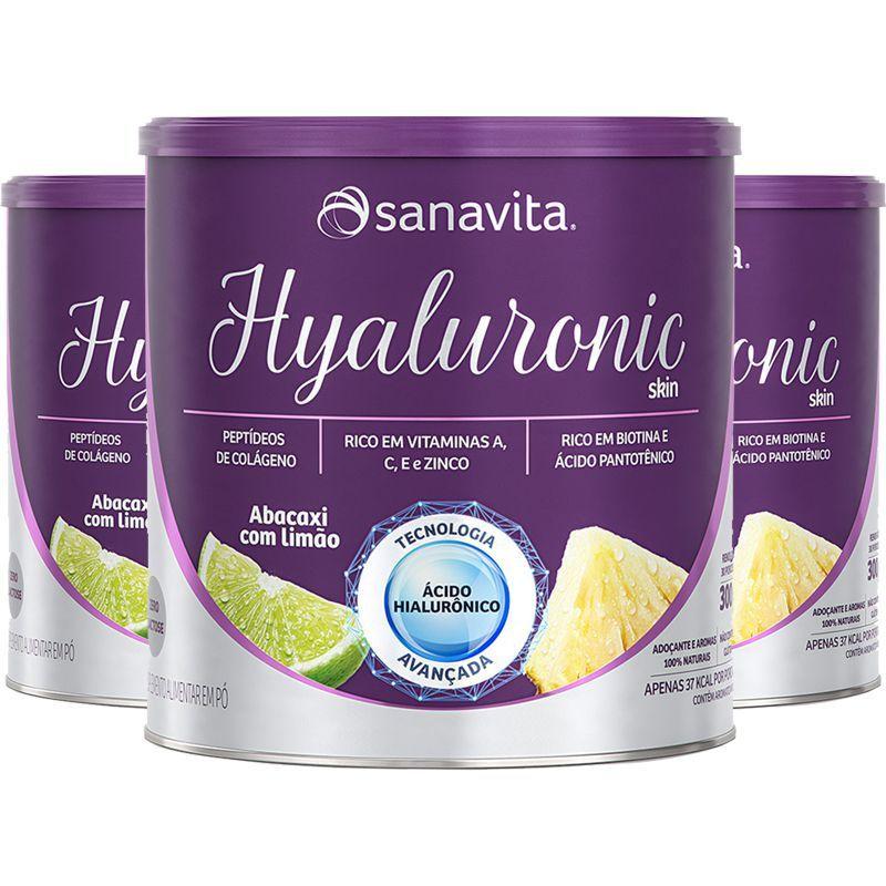 HYALURONIC SKIN SABOR ABACAXI COM LIMÃO - 300g - SANAVITA