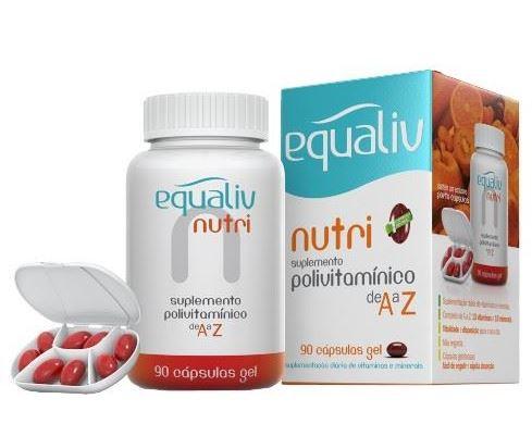 NUTRI POLIVITAMÍNICO - 90 CÁPSULAS - EQUALIV
