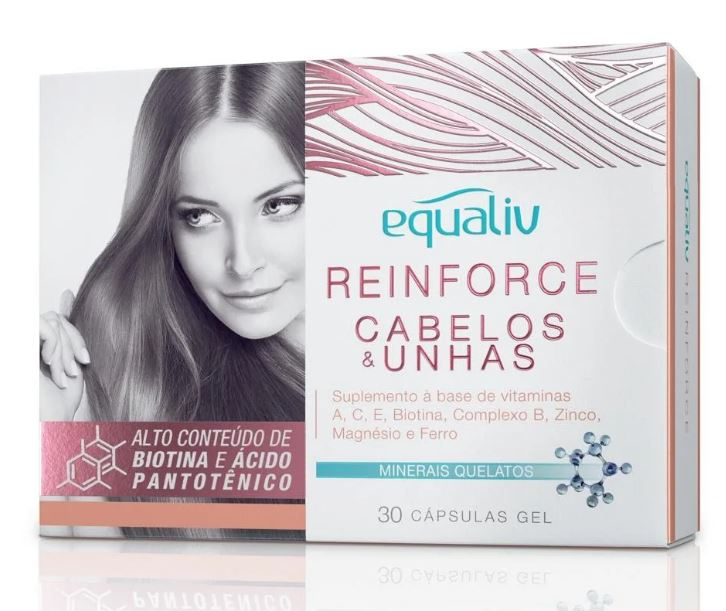 REINFORCE CABELOS & UNHAS - 30 CAPS - EQUALIV