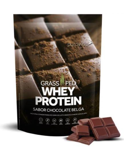 WHEY PROTEIN GRASSFED - CHOCOLATE BELGA - 900G - PURAVIDA