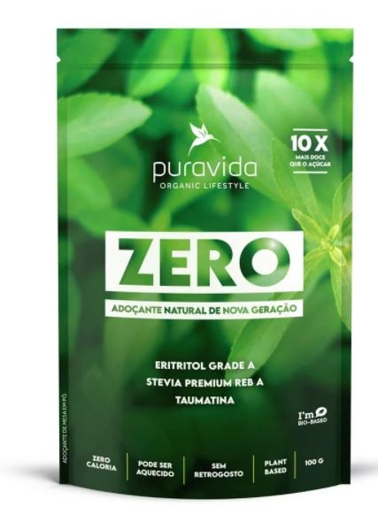ZERO ADOÇANTE NATURAL - 100G - PURAVIDA