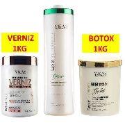 Escova Progressiva Citric 1 Lt+botox 1 Kg+verniz 1kg Ykas