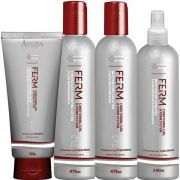 Avlon Ferm Permanente Kit Permanente Afro (4 produtos) - Kit Permanente Afro Avlon Ferm