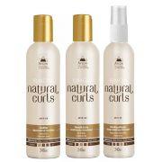 Avlon Kit Natural Curls Shampoo Condicionador e Finalizador