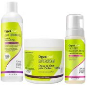 Deva Curl Angell 355ml E Supercream 500g E Frizz Free 150ml