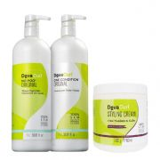 Deva Curl No Poo e One Condition 1000ml e Styling Cream 500g
