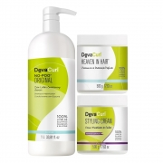 Deva Curl No Poo Original 1000ml, Styling Cream e Heaven Hair 500g