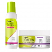 Deva Curl Styling Cream 250g E Finalizador B´leave-in 120ml