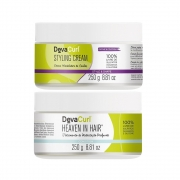 Deva Curl Styling Cream 250g e Heaven in Hair 250g