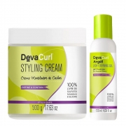 Deva Curl Styling Cream 500g e Angéll Light Gel 120ml