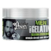 Gelatina Invisível Soul Power Men Curly 250g