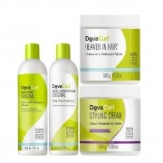 Kit Deva Curl Original 2x355ml Heaven e Styling 2x500g