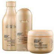 Kit Absolut Repair Loréal Professionnel Shampoo 250ml, Condicionador 150ml e Máscara 200g