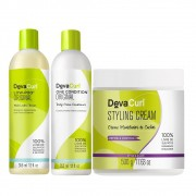 Kit Deva Curl Low Poo 2x355ml e Styling Cream 500g