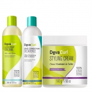 Kit Deva Curl Low Poo Condition Decadence e Styling Cream