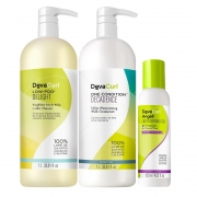 Kit Deva Curl Low Poo Delight e One Condition Decadence 2x1000ml e Angell 120ml