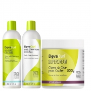Kit Deva Curl No Poo E One Condition 355ml E Supercream 500g