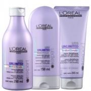 Kit Loréal Professionnel Shampoo 250ml, Condicionador 150ml e Creme Disciplinante 200ml
